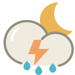thunderstorms night icon