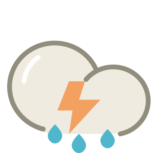 Thunderstorms Icon | Lovely Weather Part 1 Iconset ...