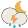 Thunderstorms-night icon