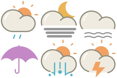 Lovely Weather Part 1 Icons