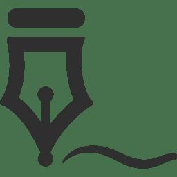 signature icon mono business iconset custom icon design