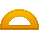 Semicircle ruler icon