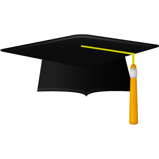 Graduate academic cap icon
