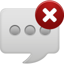 Message bubble delete round icon