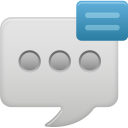 message bubble show icon