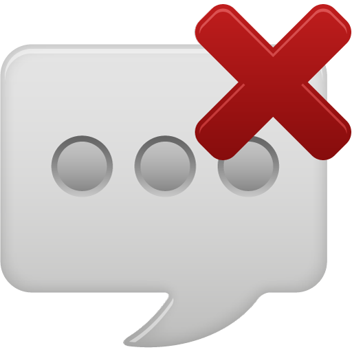 message bubble delete icon