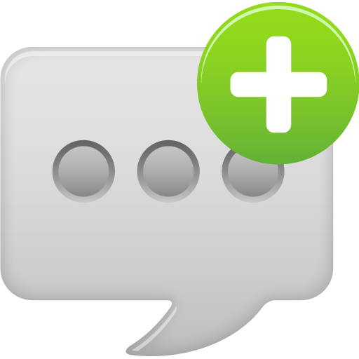 Message-bubble-new-round icon