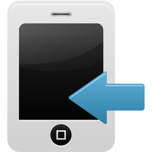 Smartphone calls received icon
