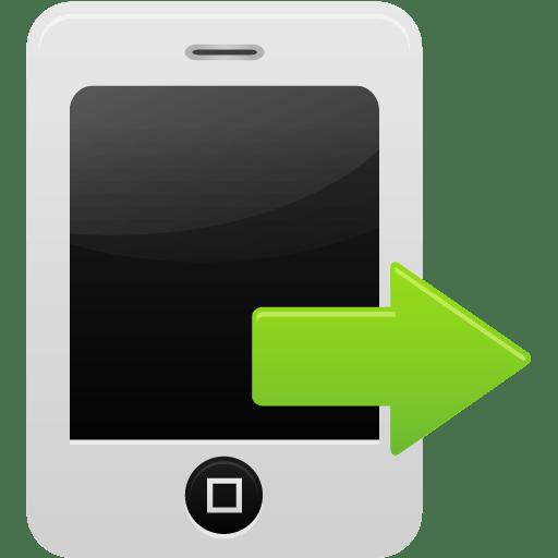 Smartphone calls sent icon