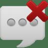 Message-bubble-delete icon