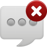 Message-bubble-delete-round icon