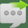 Message-bubble-send icon