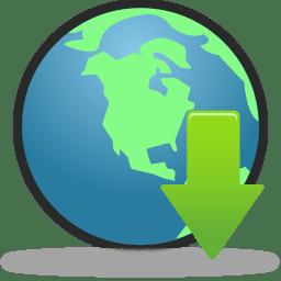 Globe Download icon