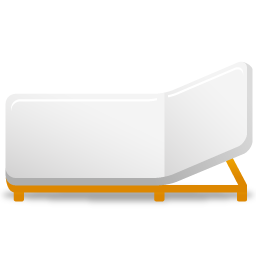 A rollaway bed icon