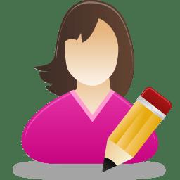 Edit female user icon