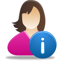 female user info icon