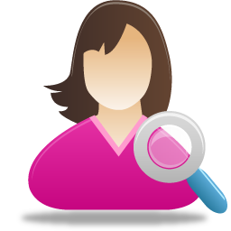 female user search icon