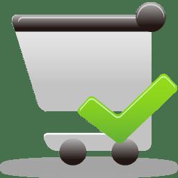 shopping cart accept icon