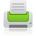 Printer green icon