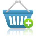 shopping basket add icon