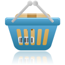 shopping basket full icon