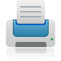 printer blue icon