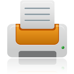 printer orange icon