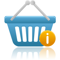 shopping basket info icon