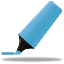 Highlightmarker blue icon