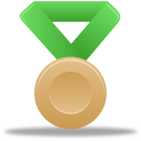 Metal bronze green icon