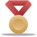 Metal bronze red icon