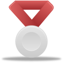 Metal silver red icon