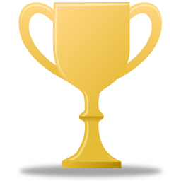 Trophy gold icon