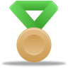Metal-bronze-green icon