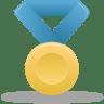 Metal-gold-blue icon