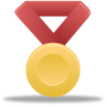 Metal-gold-red icon