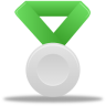 Metal-silver-green icon