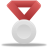 Metal-silver-red icon