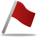 Flag red icon