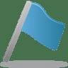 Flag-blue icon