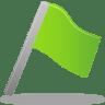 Flag-green icon