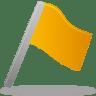Flag-yellow icon