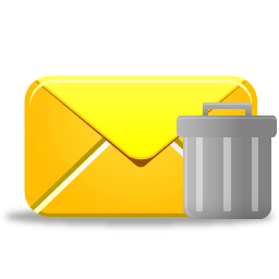 Email trash icon
