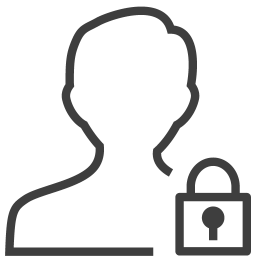 User man locked icon