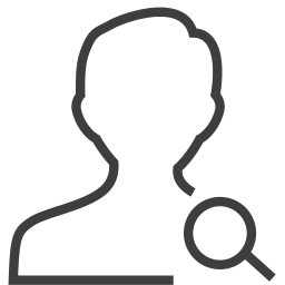 user man search icon