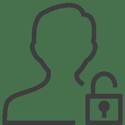 user man unlocked icon