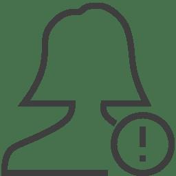 user woman alert icon