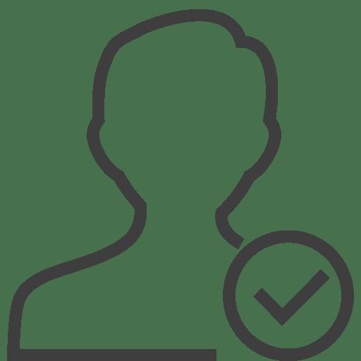 User-man-accept icon