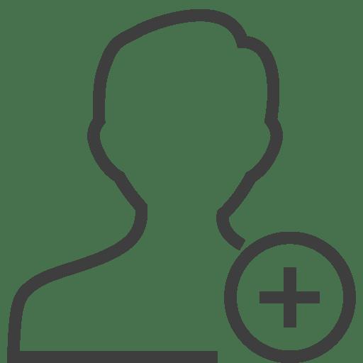 User-man-add icon