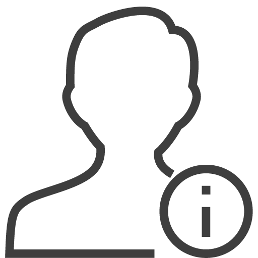 User man info icon